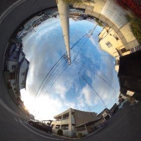 松山市の賃貸アパート、ジュネスはなみずきAの敷地東側