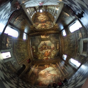 The stunning Painted Hall in the Old Royal Naval College, Greenwich #theta360