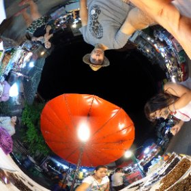 Chiang Mai, Thailand, Fried Insects, Sunday Market #theta360
