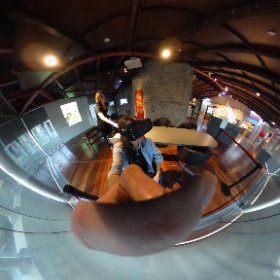 visiting the gaudi exhibition center watching a 360° movie,bwhile taking a 360° photo :) #theta360
