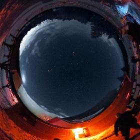 15 décembre 2018  Pavillon d'astronomie Velan, Domaine St-Bernard, Tremblant.  Astronomes amateurs à leur poste d'observation.