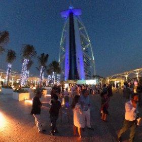 Открытие платформы в @BurjAlArab С этой стороны вы отель еще не видели. Фото 360. Кликайте и крутите #BurjAlArab #TheTerrace