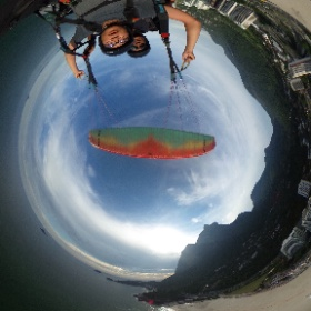 Dia lindo !  Agende sua aventura, não perca tempo. Voô Duplo de Parapente no Rio www.vooparapenteriodejaneiro.com #theta360