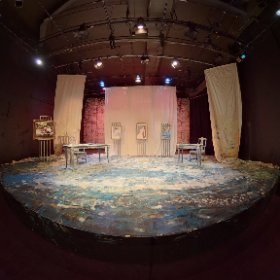Impressionism at the Alumnae Theatre  April 2019 View from in front of the stage Set Designer: Teodoro Dragonieri Associate Set Design: Sara Ahmadieh Assistant Set Design: Andrea Nesbitt Lighting Designer: Jay Hines Technical Assistant: Jarrod Dunlop