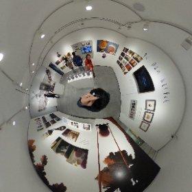 リクルートクリエーターギャラリーGBで催されているトンコハウス展でシータ! 質感が素晴らしい。 #theta360