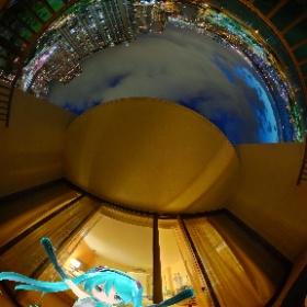 ヒルトンホテル オーシャンビューからの景色(夜) #miku360 #theta360