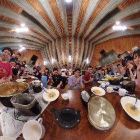 昨晩の夕食は4つの班に分かれて野外炊事でカレーコンテスト。クオリティ高くてどれも美味しすぎ💕 #RICOH #thetaZ1 #theta360