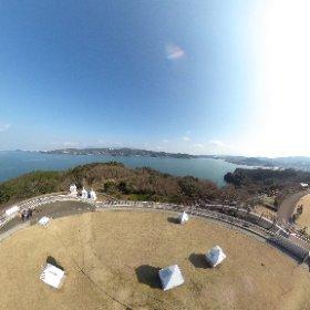 長崎県諫早市のぞみ公園の360度展望台から。