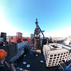 地上40m、溶鉱炉のプラットホーム #theta360
