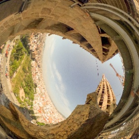 From one of the Towers at the Sagrada Familia, Barcelona Spain. #theta360