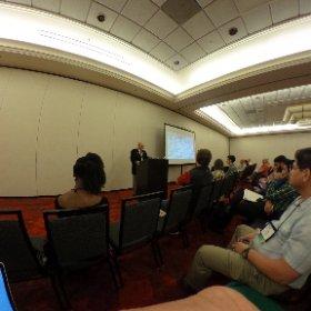 Enjoying Ray Schroeder's presentation on emerging tech #theta360