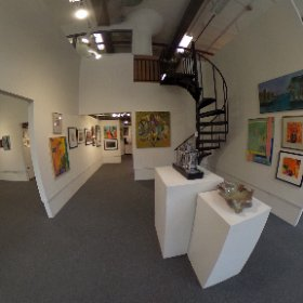The Art League gallery at the Torpedo Factory Art Center in Alexandria, Virginia
