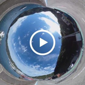 360度カメラの走行映像!楽しい!