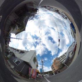 松山市の賃貸アパート、ジュネス華の入口