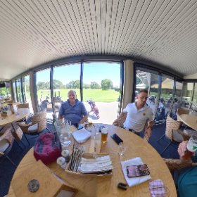 Steve and Jarrod Irons balcony at RPGC RPGC Royal Perth Golf Club South Perth WA.  searing heat but we would not miss the chance of club trophy virtual tour https://goo.gl/iUzmGg   BEST HASHTAGS  #RPGC   #WAGolfClub  #VisitPerthWA  #firefly3d #theta360