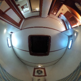 53' DeFever Forward Guest Stateroom #theta360