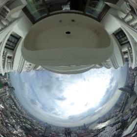ルブア アット ステート タワー (lebua at State Tower) バルコニーからの眺め02 #ルブアアットステートタワー #lebuaatStateTower #bangkok #thailand #バンコク #タイ #theta360