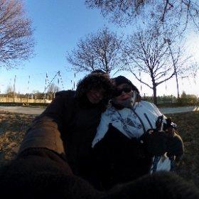 Balade sur les bords de Marne, février 2018, froid piquant 💙 #theta360 #theta360fr