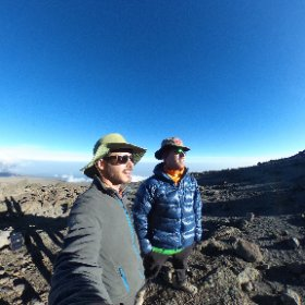 Day 4 on #Kilimanjaro - made it to 16,000 foot Camp Kosovo. The sun is setting fast and summit morning awaits! #theta360