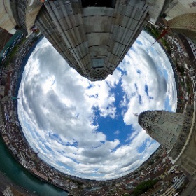 360°-Blick vom Turm des Grossmünster Zürich 4/4 #visitZurich #theta360