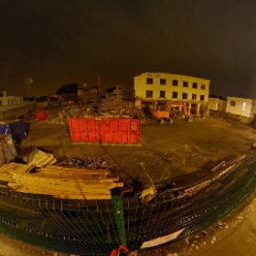 The Warwick Hotel demolition in progress #Rain3d #theta360 #theta360uk
