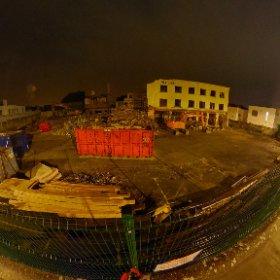 The Warwick Hotel demolition in progress #Rain3d #theta360 #theta360uk