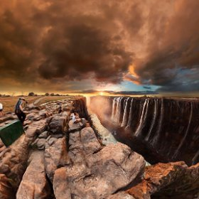 Victoria Falls in Hwange, Zimbabwe