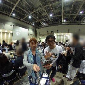 【5000人セミナー 西澤さん見っけ】 セミナー会場で自撮りしていたら 西澤さんに発見されました💕 #theta360