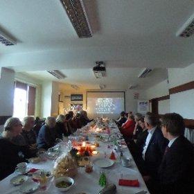Przedświąteczne spotkanie pracowników CEN w Suwałkach. Wspólne kolędowanie. #theta360