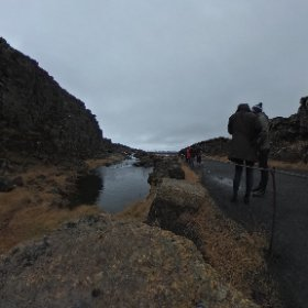 Small waterfall, Thingvellir National Park, Iceland taken on 22/10/2018 #theta360 #theta360uk