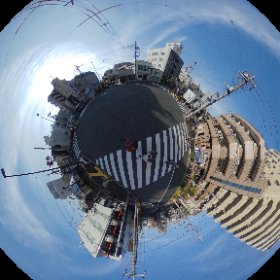 千住竜田町のもっとややこしい交差点シータ  #theta360