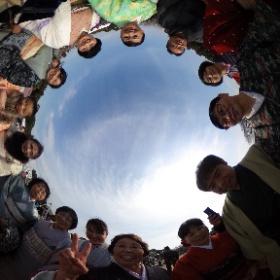 水戸の梅まつり「観梅着物Day」にご参加いただいた皆さんです(^^) ※平成29年3月5日偕楽園内で撮影。 #theta360