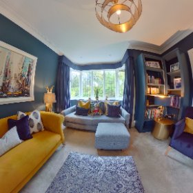 AMC Design. Interiors with personality by Ann Marie Cousins.  Residential property, Burley-in-Wharfedale, Nr Ilkley, West Yorkshire.                        #interiordesign #interiordesigner #ilkley #theta360 #theta360uk