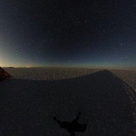 ウユニ塩湖夜景 #theta360