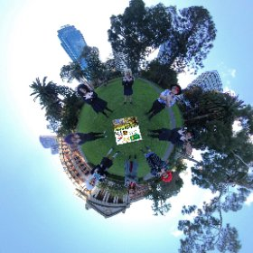 360 spherical by cosplayers at Stirling Gardens Perth CBD abundant with lush gardens, paths, sculptures, meeting places, SM hub https://linkfox.io/67mAi BEST HASHTAGS  #StirlingGardensWA  #PerthCBD   #PerthCity  #VisitPerthWA   #butterfly3d #theta360