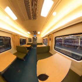 Inside the dining car on the sleeper train to Chiang Mai #Thailand