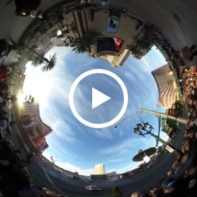 #NASCAR Champions Week lap on the Las Vegas strip December 2016 #theta360