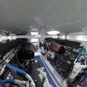 The engine room of the Winter Custom Yachts 60 - Wolverine.