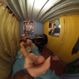 New PR! Found a room for $3 a night. A bit of America's greatest exports on the wall too.  #theta360