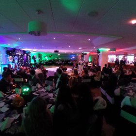 HOSPITALITY SHEFFIELD: Platinum Suite at Sheffield's Bramall Lane looked spooktacular for Halloween themed hotel and venue dinner awards on Thursday, October 27, 2016. #theta360 #theta360uk