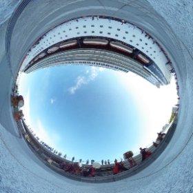#西方小天鼓 とゆかいな仲間たちの #和太鼓 演奏。 #豪華客船 を見送り。  #長崎  #theta360