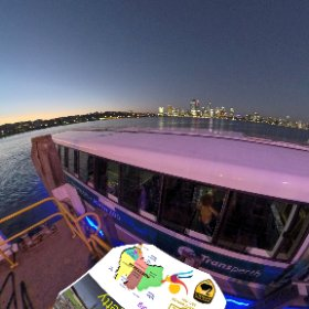 360 spherical South Perth Foreshore sunset is an ideal photo and along the river http://goo.gl/ND45k9  BEST HASHTAGS  #SouthPForeshore #SouthPerth #VisitPerthWA #PerthAdventure #WaTourism #WaAchiever #firefly3d #theta360 #theta360