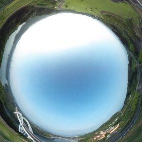西海の丘公園からの全球画像。  針生無線塔  新西海橋  西海橋 など見れますよ。  ぜひ、クリックしてグリグリしてみてください。  絶景ポイントですよ。