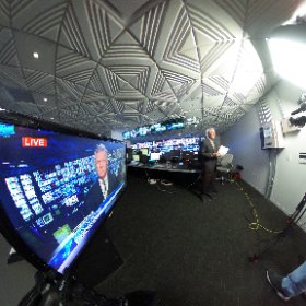 360 photo of @conanNBCLA reporting on the #NevadaCaucus from @NBCLA news ops.  #theta360