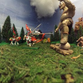Cavalry Charge the Giant!  360 image for VR viewing  www.ThisIsMeInVR.com  #theta360