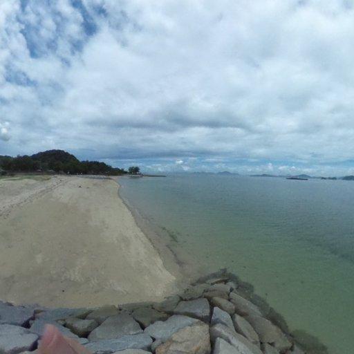 今治市の星の浦海浜公園でパノラマサッパリしまTHETA。久々に来たら予想以上に寂れてしまってて、ちょっとさみしい。