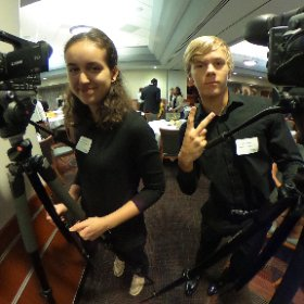 Digital Media Students filming at PNC Arena for the 2016 Superintendent's Breakfast. @WCPSS #theta360