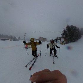 #pyhack スキー! (吹雪 #theta360