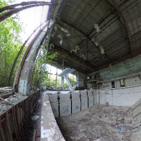 The famous azure pool in Pripyat. #theta360