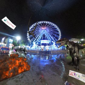 60 Mtr high Ferris wheel at Asiatique Markets on the Chao Phraya river, great views and super complex more 1500 venues, markets, entertainment, bars, restaurants, and more, SM hub http://goo.gl/gFXq9c   #ufo3d